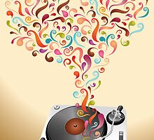 Music lovers - abstract poster by schtroumpf2510