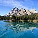 Broken Reflection on Maligne Lake by Teresa Zieba