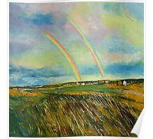 Scotland Double Rainbow Poster