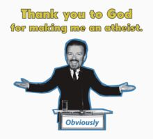 Thank you to God for making me an atheist. by Théo Proupain