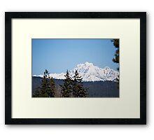 Eastern Washington Snow Obstacles  Framed Print