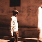 Busy Man, Jaipur by Giles Freeman