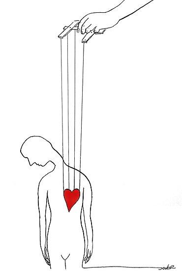 heart strings by Loui  Jover