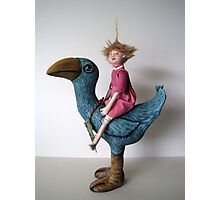 Little Sprout - art doll sculpture Photographic Print