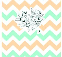 There a-pears to be pastel peach chevron in the clouds by Simone Pullar-Wells
