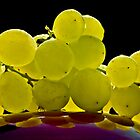 Green grapes by Ulla Jensen