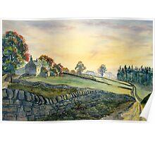 Dawn Breaking, Alston, Cumbria Poster