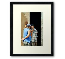 Shooting the breeze, Trinidad, Cuba Framed Print