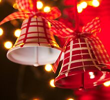 Christmas Bells Red and White by 7horses