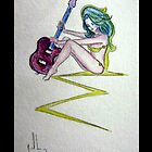 Electric Guitar Goddess by Neil-Lecy