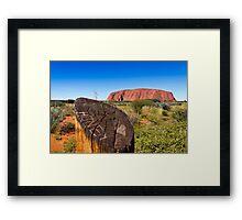 Ayers Rock Uluru, Australia Framed Print