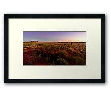 Uluru, Ayers Rock, Sunset Framed Print
