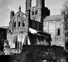 Kirkstall Abbey in Mono by Colin Metcalf