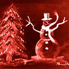 Red Snowman by Pamela Hubbard