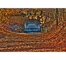 Tunnel Park in Autumn Photographic Print