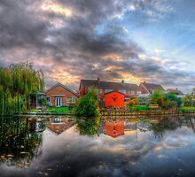 Suburban Sunrise Panorama by Yhun Suarez