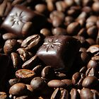 Chocolate and coffee beans by Margarita K