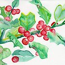 Holly Christmas card  by ArtLuver