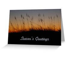 Seasons Greetings Card - Sand Dunes at Sunset Greeting Card
