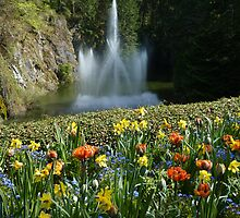 Sunken Gardens Fountain - Butchart by MischaC