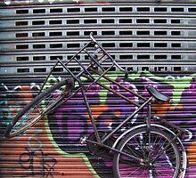 Biked Grafitti Fence by AnnoNiem Anno1973