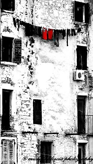 Facade in Rovinj by Michele Filoscia