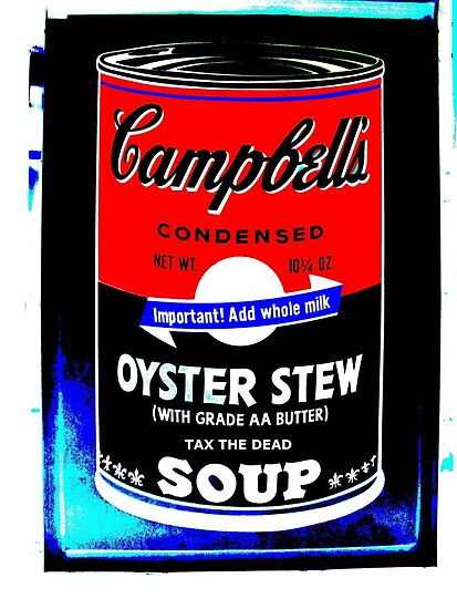 campbells-soup-can-red-tax-the-dead by Stephen Peace