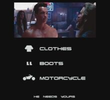 Terminator 2 - Clothes Boots Motorcycle V2 by Cat Games Inc