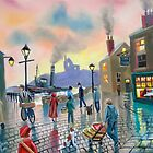 """the old harbour"" oil painting by gordonbruce"