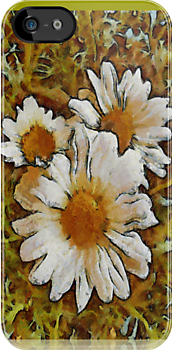 Daisies Three ~ iPhone case by leapdaybride