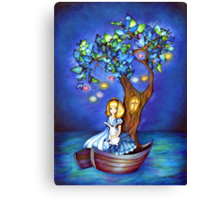 Alice in Wonderland Fantasy - Under the Dreaming Tree Canvas Print