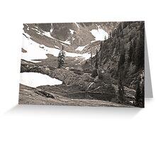 trail in heather meadows, wa, usa (sepia) Greeting Card