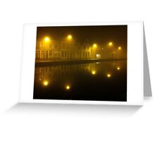 Misty Evening in Gouda Greeting Card