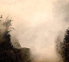 Smoky Country Lane .. by Mike  Waldron