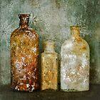 Old Bottles & Wallpaper by Barbara Ingersoll