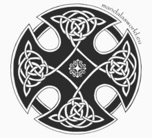 Celtic Knot n1 Black by Mandala's World