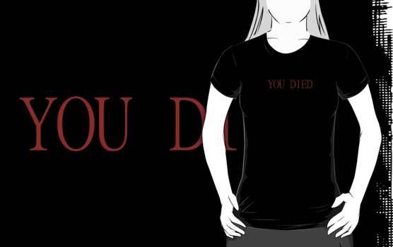 Dark Souls - You Died - No Backing by carnivean