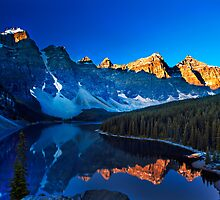 Valley of the Ten Peaks by Rick Louie