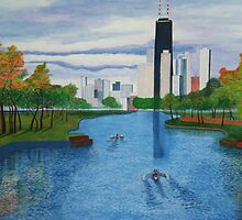 Lincoln Park - Chicago by Rie Kaminsky