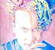 Robert In Pink And Blue by Karen Clark