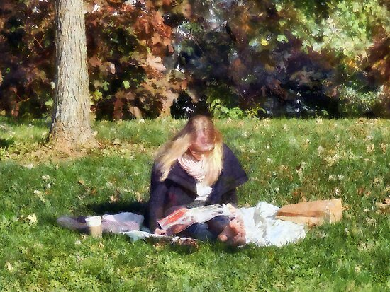 Relaxing in the Park by Susan Savad