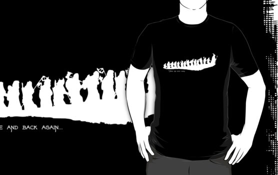 The Hobbit - There and back again... Silhouette T-Shirt by curiousfashion