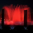 Montjuic Fountain by night - Barcelona by Abigail Langridge