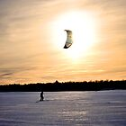 A friend kiteskiing near Quebec by EdgarAndre