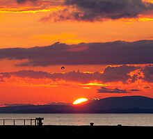 Whitehaven Sunset From North Pier by Jan Fialkowski