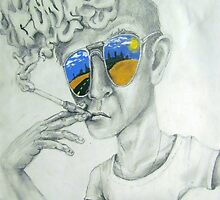 Hunter Thompson by sp0nge