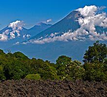 Fuego & Acatenango Volcanoes. by bulljup