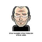 Steve Jobs in cartoon by benyuenkk