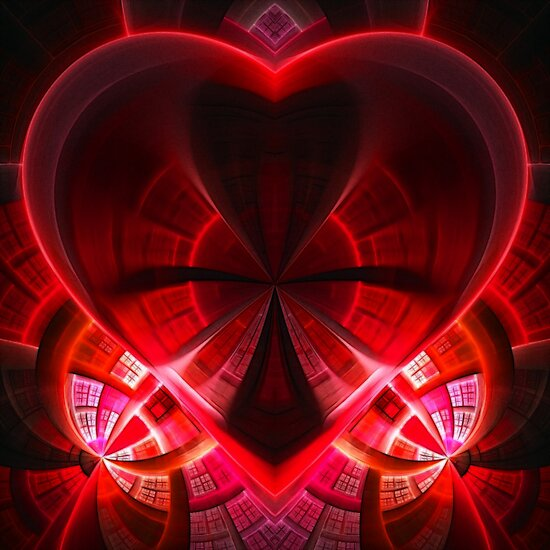 heart / red by Benedikt Amrhein