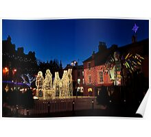 Carlisle Town Centre at Christmas Time Poster